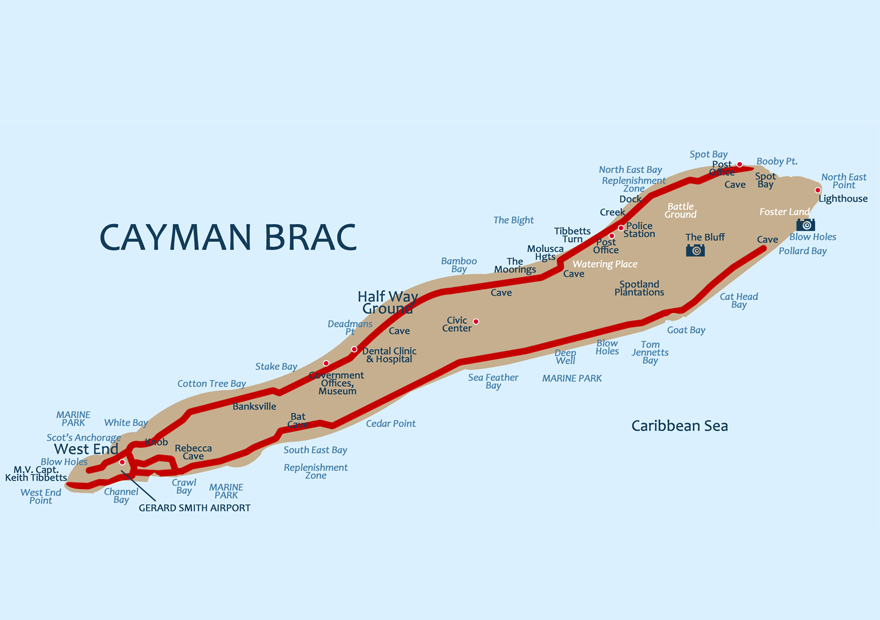 Cayman Brac Map