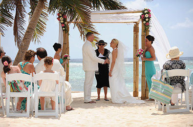 You can get married on the beach